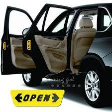 porte aperte auto adesivi per auto adesivi per porte aperte avvertimento riflettente