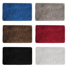 Shaggy Bathroom Rugs Luxury Soft Plush Shaggy Bath Mat Thick Fluffy Microfiber