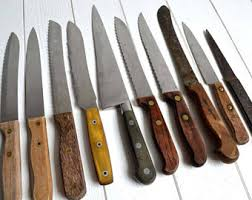 kitchen knife collection vintage knife etsy