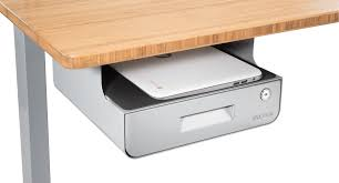 locking under desk drawer with shelf uplift desk