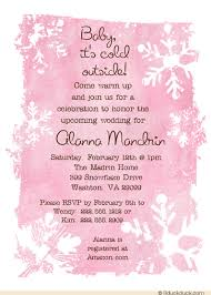 Snowflake Wedding Invitations Frosted Snowflake Bridal Shower Invitations Unique Party