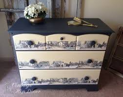 decoupage images onto painted furniture vintage home decor