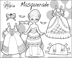 coloring pretty paper doll coloring pages girls kids