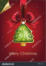 Christmas New Year Beautiful Christmas Tree Stock Vector 116645944