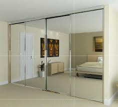 mirrored closet doors cement patio
