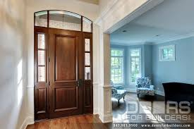 Clear Glass Entry Doors by Custom 2 Panel Solid Mahogany Entry Door With 2 Sidelites And