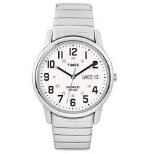 Indiglo Night Light Timex Men U0027s Easy Reader Watch Silver Tone Stainless Steel