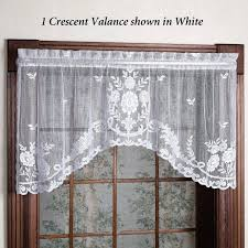 Lace Valance Curtains Curtains Country Lace Valance Curtains With Attached Set