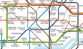 underground map zones walking between stations