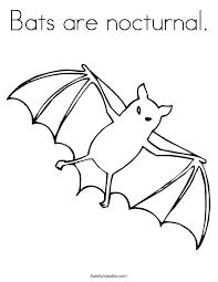 bats nocturnal coloring twisty noodle