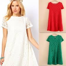summer spring style woman u0027s lace a line short sleeve dress plus