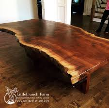 rustic dining table live edge slabs