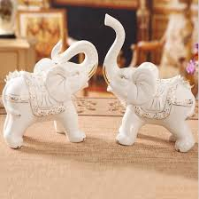 household ceramic elephant ornaments crafts for wedding sale