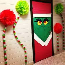the grinch christmas decorations navidad wreath grinch doors and grinch party