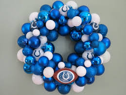 indianapolis colts football ornament wreath indianapolis colts