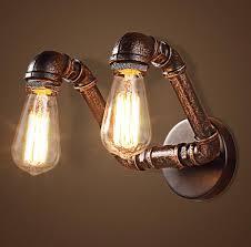 industrial pipe light fixture vidar twin head wall industrial pipe l