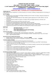 career objective for mechanical engineer resume konboye michael ekiotenne pipeline engineer cv