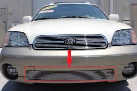 subaru chrome 2001 subaru legacy outback 1pc bumper overlay billet grille