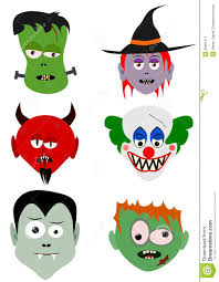 funny halloween faces stock image image 26001011