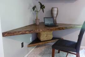 Corner Shelf Desk Weathered Wood Corner Desk Home Furniture Decoration