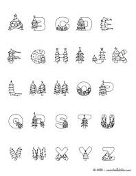 Christmas Tree Letters Of Alphabet Coloring Pages Coloring Pages Letters Coloring Pages