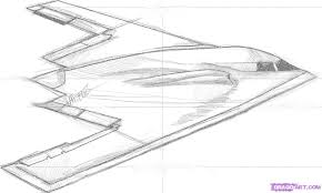 how to draw a stealth bomber step by step airplanes