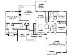 Ranch Floor Plans Eplans Ranch House Plan U2013 Deep Garage For Extra Storage U2013 2006