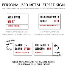 Wedding Signs Template Personalised Metal Street Sign By Oakdene Designs