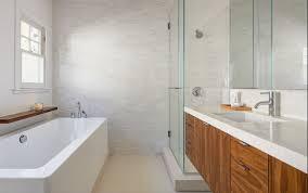 Modern Walnut Bathroom Vanity Walnut Bathroom Vanity Bathroom Contemporary With Beige Tile Floor