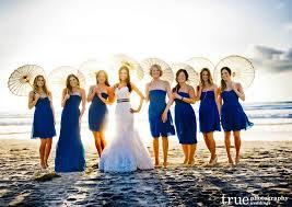 blue mix and match bridesmaid dresses beach weddings