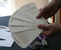 Diy Fan Programs Wedding Fan Program Diy Paper Kit Wedding Invitation Sample