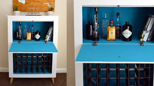 Built In Drinks Cabinet How To Build A Mid Century Modern Wine U0026 Liquor Cabinet Youtube