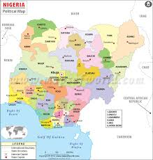 nigeria physical map political map of nigeria nigeria map with states