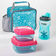 Water Bottle Storage Container Logan Kids U0027 Insulated Lunch Bag Set With Reusable Containers And