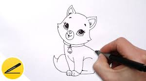 how to draw a cat for kids cute drawing of animals youtube