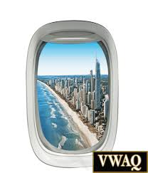 airplane window wall decal city scene peel and stick wall