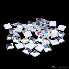 square shape crystal ab crystal color non hotfix glass rhinestones