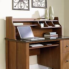 sauder appleton hutch for computer desk sand pear by office depot