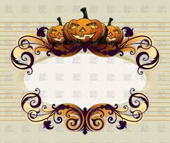 halloween frame clipart halloween frame with pumpkin vector image 65596 u2013 rfclipart