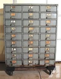 Vintage Metal File Cabinet Vintage Industrial 27 Drawer Metal File Cabinet By Hobart For Sale