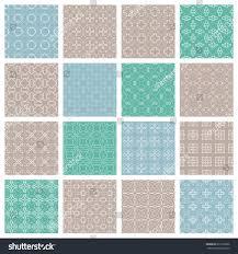 Contemporary Wallpaper Seamless Geometric Line Patterns Set Contemporary Stock Vector