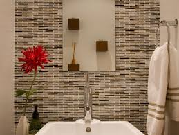 vase decoration ideas beautiful mosaic tiles wall design of small bathroom area with