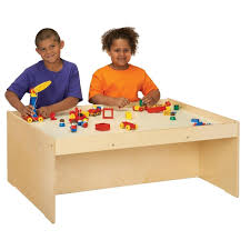 wooden activity table for centerline birch wood activity table