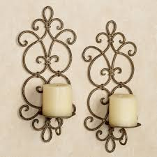 Gold Wall Sconces For Candles Small Wall Sconces And Candleholders Touch Of Class