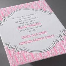 letterpress invitations deco frame letterpress invitation invitations by