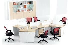 bureau en open space bureau 3 places dubai market office workstation desk for 3 person