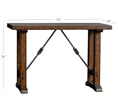 bar height table industrial benchwright bar height table pottery barn throughout bar height desk