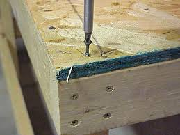 Simple Wood Workbench Plans by How To Build A Low Cost Sturdy Work Bench From 2x4 U0027s And Osb