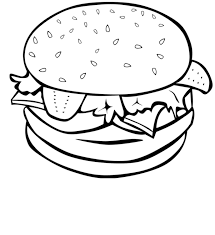 lunch food coloring pages
