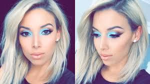 spring aqua makeup tutorial lustrelux youtube